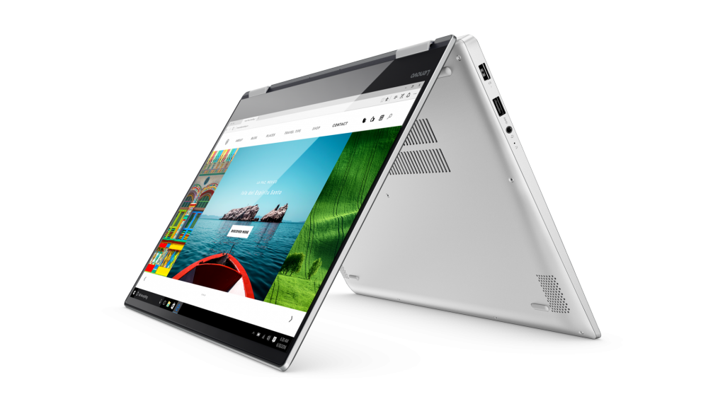 03_YOGA720_15INCH_Hero_Shot_Platinum_Tent_mode_front_facing_left_Web_browser_screen_Fill.png