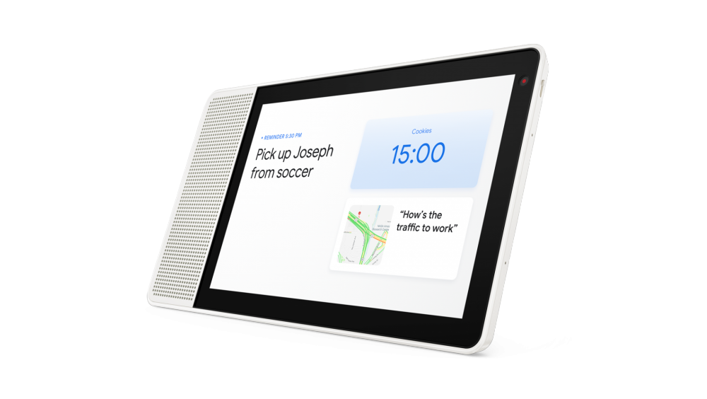 10-inch Lenovo Smart Display shows home screen.png