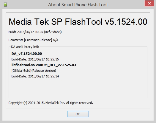 sp flash tool v 5.1408.00 на русском
